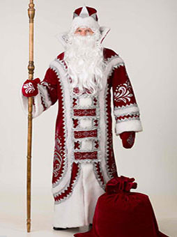 Костюм Деда Мороза Купеческий Бордо уфа