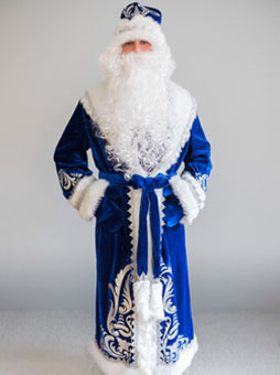 Костюм Деда Мороза Боярский синий уфа