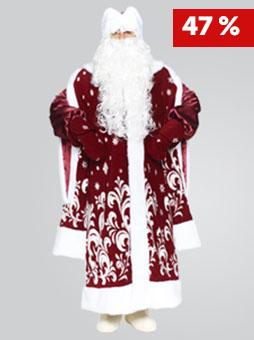 Костюм Деда Мороза Боярский Бордо